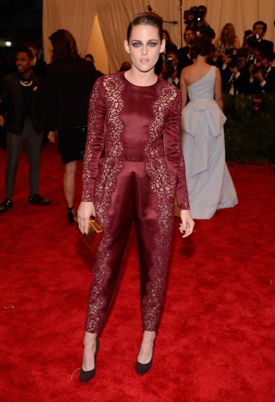 Kristen Stewart looked awkward and creepy in a Stella McCartney jumper.