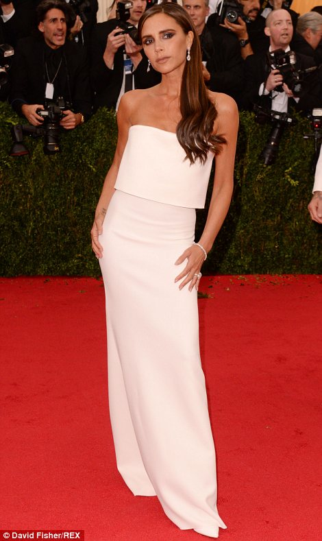 Victoria Beckham looking posh in her own design