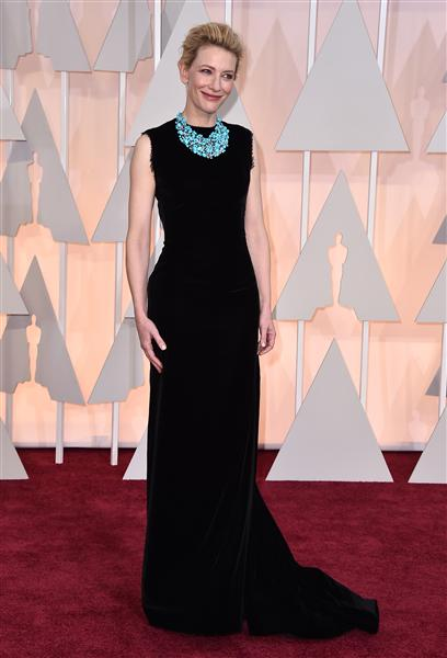 Cate Blanchett in a black John Galliano piece