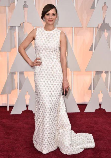 The Best Actress donned a white Dior dress